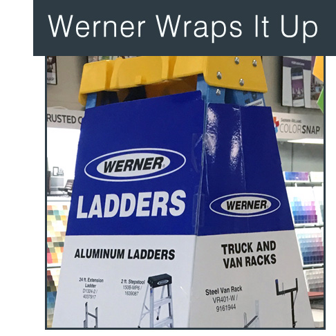 Werner Steps Up With Wrapped Ladder Display